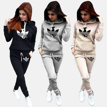 2021 Casual Women Tracksuits 2 Piece Set Hoodies Pants Sports Suits Female Sweatshirt Conjunto Feminino Ropa Mujer S-4XL image