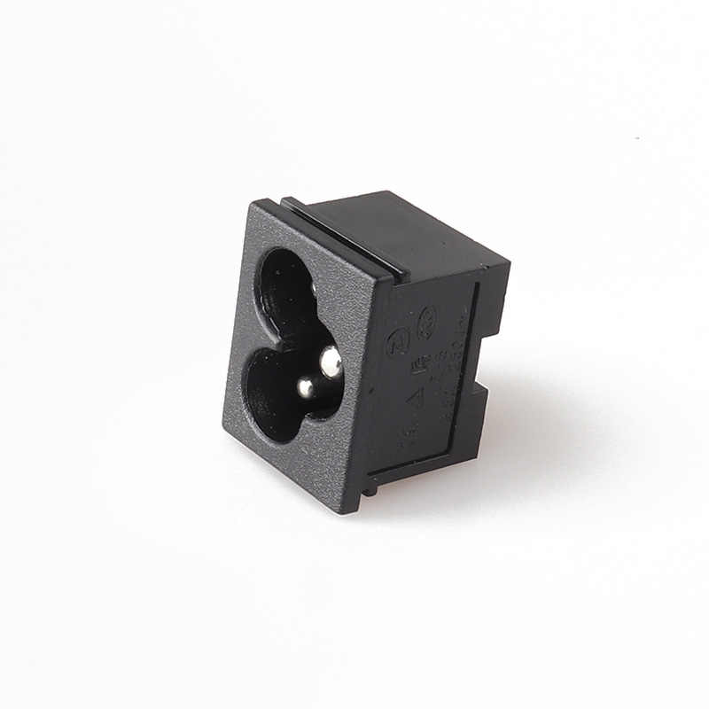LZ-6-1WP5P3 C6 Screw Mount Inlet Plug Socket AC mickey Black 3 Pin IEC320 connector