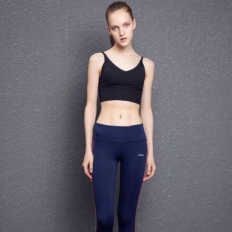 Лосины женские штаны для бега эластичные тренировочные быстросохнущие и дышащие штаны для фитнеса весенние и осенние женские брюки
