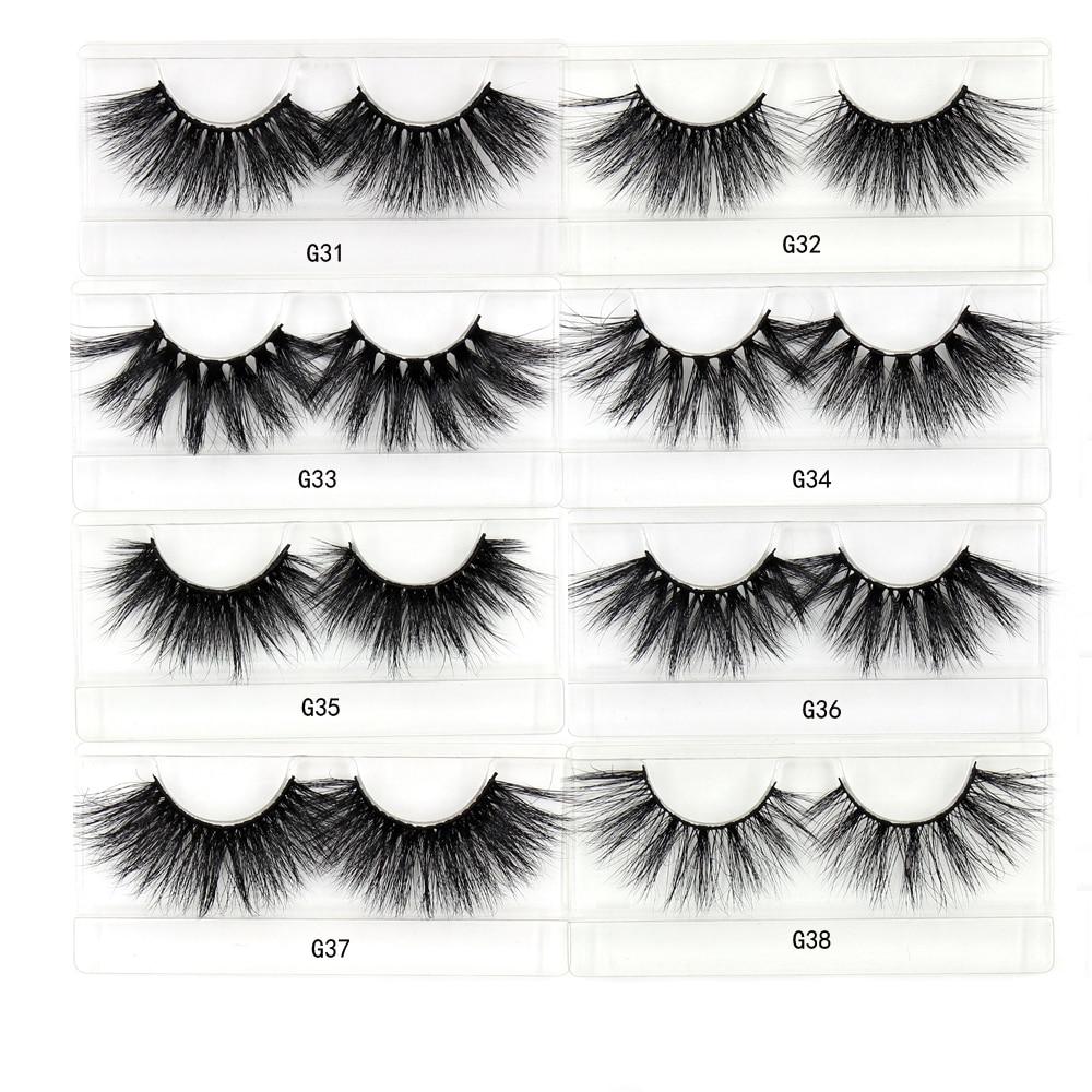 Image 4 - LEHUAMAO 35Pairs/lot  Mink Lashe 3D 25mm Mink Eyelashes Criss cross  Fluffy false eyelashes Popular Lashe Dramatic Eyelashes-in False Eyelashes from Beauty & Health