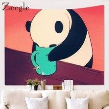 Настенный Гобелен Zeegle с пандой, украшение для дома, гобелен, покрывало, коврик для йоги, одеяло, коврик для пикника, кухонные скатерти
