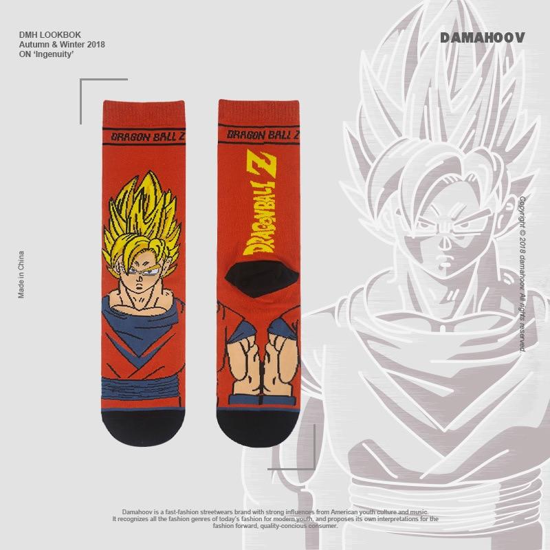Cartoon Socks Dragon Ball Handsome The Monkey King Super Men Street Wear Fashion Funny Men Socks  Gifts For Men