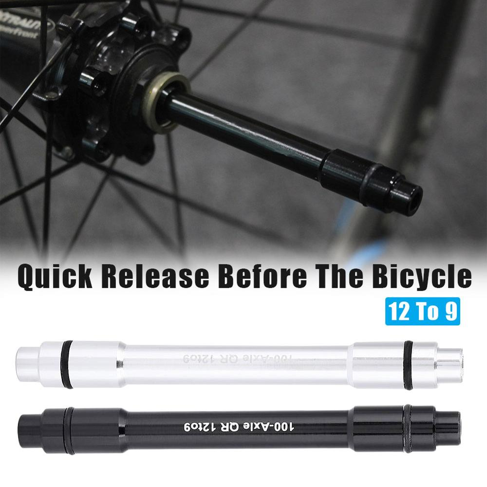 12mm To 9mm Adapter MTB Bike Thru Axle Hub Quick Release Bicycle Front Wheel