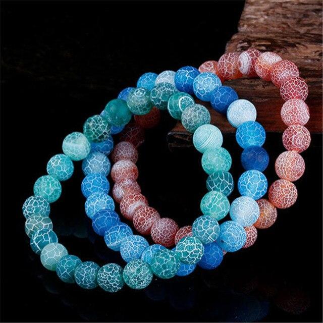 Klasyczne bransoletki z kamienia naturalnego dla kobiet mężczyzn regulowane koraliki bransoletka Chakra biżuteria modlitewna Pulseras Hombre prezenty