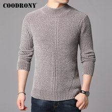 COODRONY Brand Turtleneck Sweaters Thick Warm Winter Sweater Men Cotton Pullover New Arrival Fashion Casual Pull Homme 91131