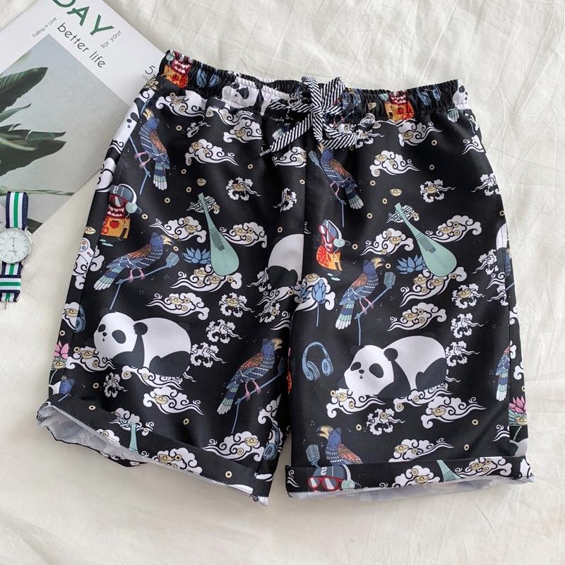 2020 New Men Short 13 Style Shorts Men Summer Beachwear Print Quick Dry Short Trousers Causal Drawstring Sportwear Male Shorts 7