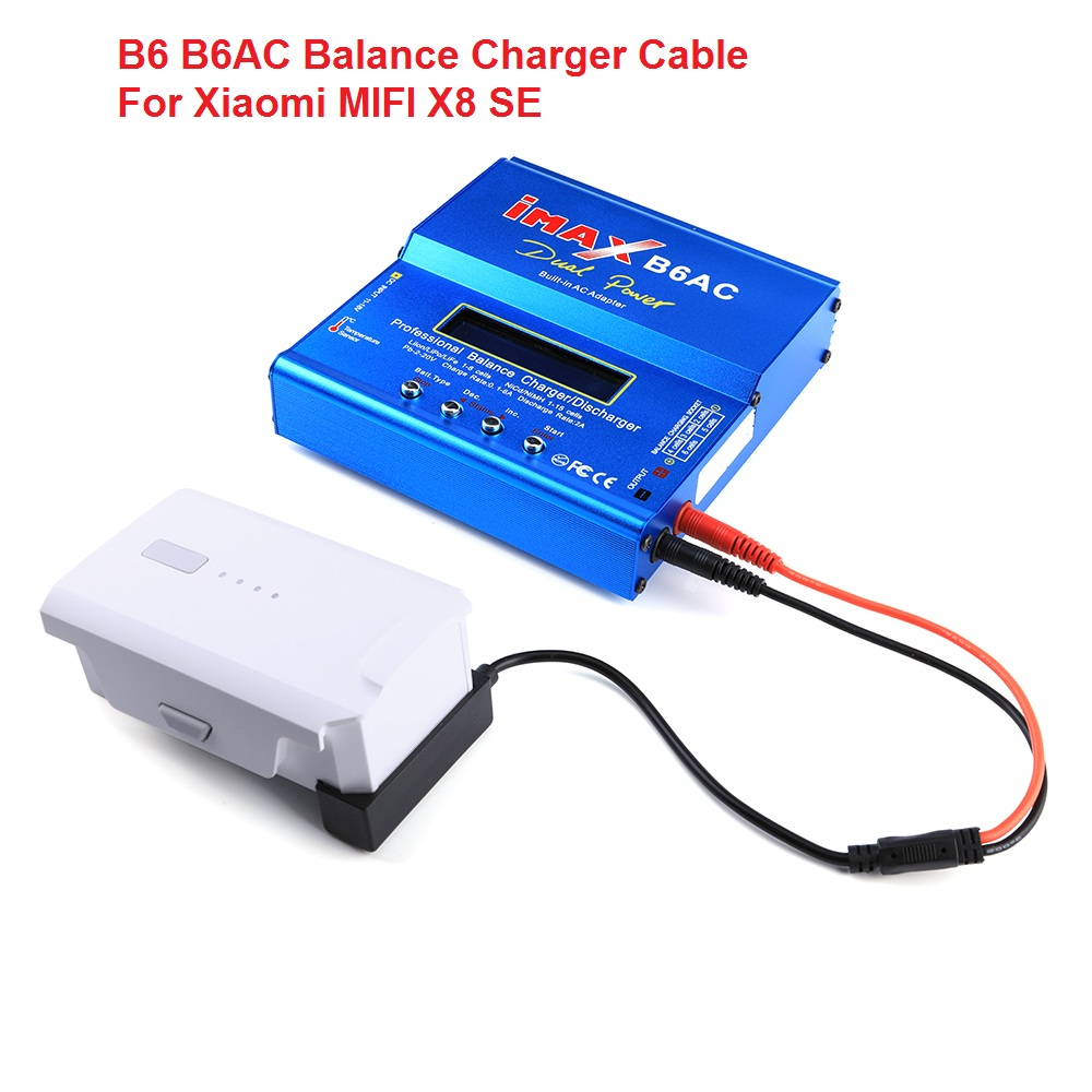 B6 B6AC DC Balance Charger Adapter Charging Cable For Xiaomi FIMI X8 SE RC Drone Fast Charging Cable Drone Accessories
