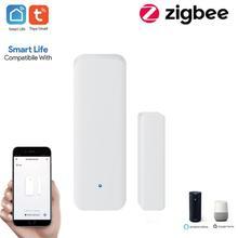 Tuya Zigbee WiFi Door And Window Sensor Door Open Closed Detectors Security Sensor Support