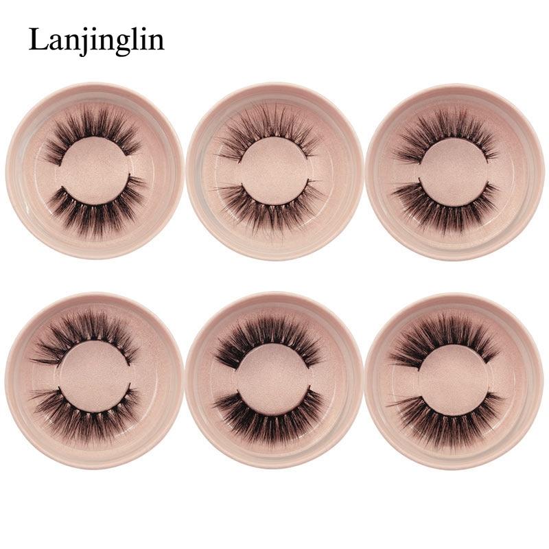 new 1 pair winged false eyelashes natural 3d mink lashes hand made full strip makeup fake lash eyelash extension