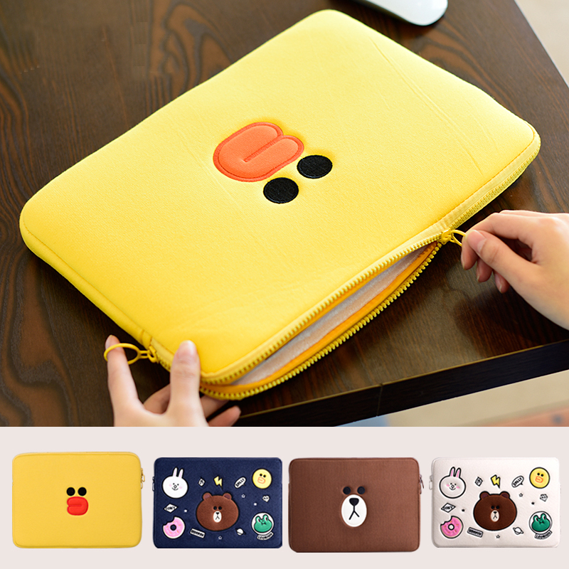 Cute Laptop case bag sleeve 11 12 13 14 15 15 6 inch For Funda font