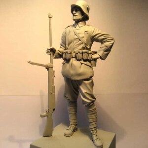 Image 5 - Figuras de resina 1:16 de 120MM, kit de soldados, máquina Gunner WW2 sin pintar y sin montar