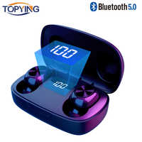 6D Drahtlose Kopfhörer Bluetooth V 5,0 Sport Drahtlose In-Ohr Led-anzeige Wireless Stereo Ohrhörer mit Mikrofon HiFi Headset