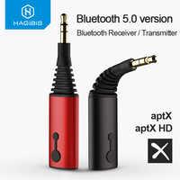 Habilis receptor bluetooth transmissor 3.5mm aptx 2in1 bluetooth 5.0 adaptador para fone de ouvido alto-falante sem fio transmissor de áudio tv