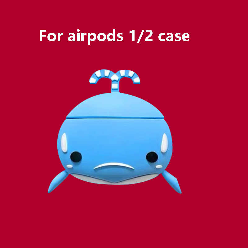 保護かわいい airpods ためのケースプロ動物ため airpod ケースクジラゲーム fanda apple buletooth ためイヤホンカバーケース s