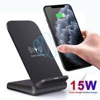 Jetjoy 15 w qi carregador sem fio suporte de montagem para iphone 11 pro max xr xs max para samsung s10 s9 8 + para huawei companheiro 30 pro p30|Carregadores de celular|Telefonia e Comunicação -