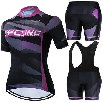 Feminino 2020 teleyi mtb ciclismo conjuntos de roupas femininas skinsuit mtb bicicleta roupas triathlon terno uniforme wear bicicleta jerseys kits 1