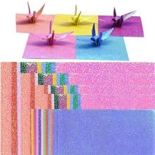 Folding Paper Scrapbooking Shining Colorful Craft-Decoration DIY 50pcs Square Multi-Size