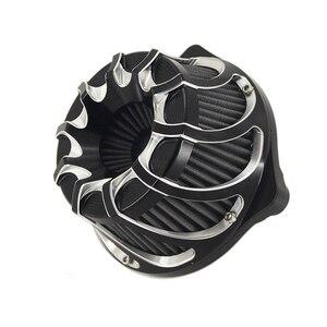 Image 1 - Çok açılı hava temizleyici hava filtresi kasırga spiral için Harley Sportster XL 1200 Dyna 00 17 Softail 3.00 18 Touring FLHX FLHR NESS