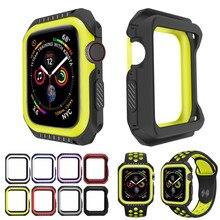 Жесткий защитный чехол из силикона и поликарбоната для Apple Watch 5, 4, 40 мм, 44 мм, защитный чехол-бампер для iWatch Band Series 3, 2, 1, 38 мм, 42 мм