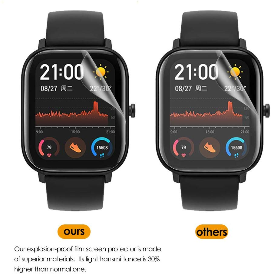 3pcs For Xiaomi Huami Amazfit GTS Watch Soft TPU Screen Protector Non-Tempered Glass Protective Film for mi Amazfit GTS