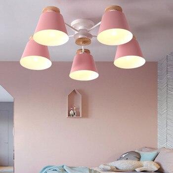 Скандинавские многоцветные Лофт E27 220 В бревна два стиля люстра для кухни гостиной спальни ресторана теплая кованая люстра