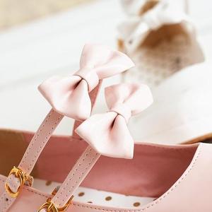 Image 5 - 애니메이션 코스프레 달콤한 로리타 신발 둥근 머리 머핀 뒤꿈치 얕은 입 여성 신발 bowknot kawaii 신발 loli cos