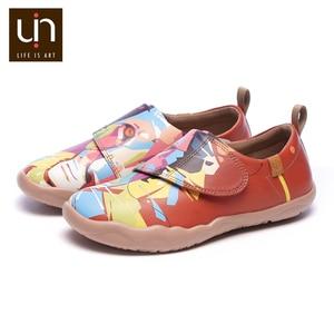 Image 3 - UIN/Цветная дизайнерская детская обувь с рисунком льва; модные кроссовки из микрофибры для мальчиков и девочек; Брендовая обувь; детская мягкая обувь на плоской подошве