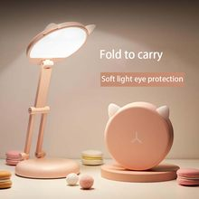 LED cute desk lamp eye protection student learning charging folding portable bedside Free shipping for bedroom table lamp