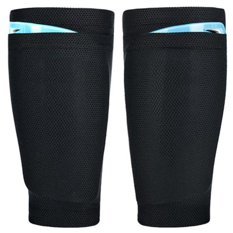 2pcs Men 's Breathable Soccer Shin Pad Holder Instep Foot Leggings Socks Football Guard Stay Lock Sleeves