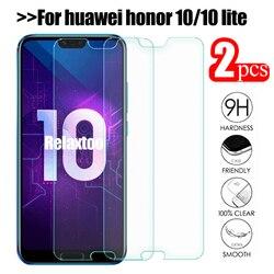 Защитное стекло, закаленное стекло для Huawei Honor 10, 2 шт.
