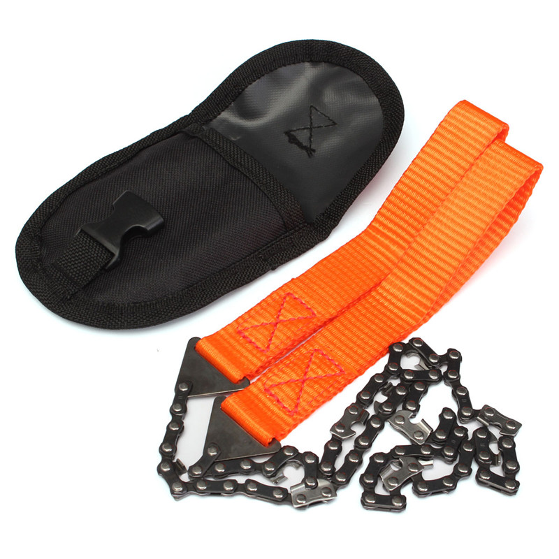Portable Handheld Survival Chain Saw Emergency Chainsaw With Bag Outdoor Camping Hiking Handsaw Wood Cutting Tool
