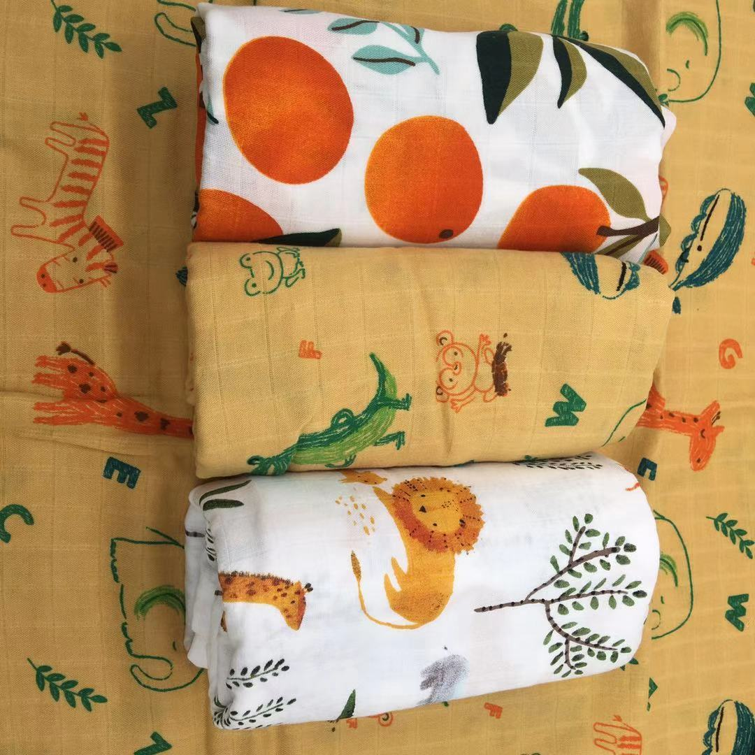 Bamboo Baby Blanket Baby Girl Swaddle Wrap Newborn Baby Bath Towel Stroller Sleep Cover Muselina Bebe Algodon 120x120cm