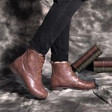 Eillysevens/мужские ботильоны на шнуровке; повседневные короткие ботинки на квадратном каблуке для пары; зимние ботинки; мужские водонепроницаемые ботинки;# q45