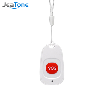 Jeatone  Wireless SOS Emergency Panic button for elderly Alarm Sensor Home Burglar Alarm for Security Alarm System gold color emergency alarm button 86 86mm fire alarm emergency switch alarm access control switch with key