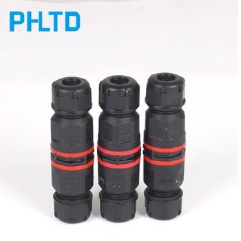 IP68 wodoodporne złącze I kształt 2 pin 3 pin 4 pin 250V 30A drut złącze proste szybkie okablowanie wodoodporne złącze outdoor tanie i dobre opinie