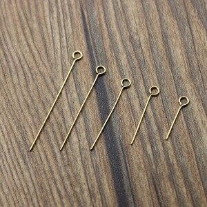Штифты из нержавеющей стали для бижутерии, золотистые штифты для поделок, 100 шт.