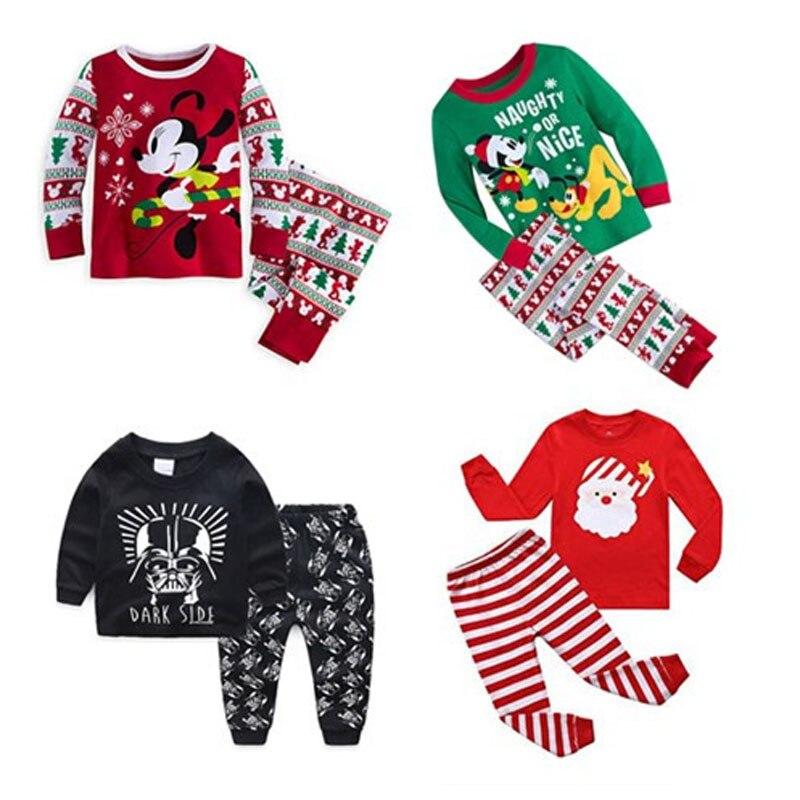 2019 pijamas infantis gecelik roupas koszula dos desenhos animados nocna camisola meninos pijamas de natal pijamas crianças menino pijama conjunto carro pjs