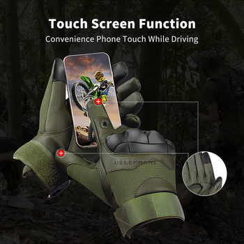 Hard Knuckle Leather Tactical Gloves Military Touchscreen Full Finger Fingerless Driving Motorcycle Army Winter Cycling Mittens