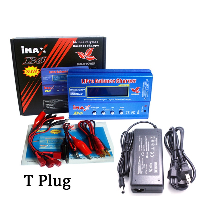 imax 80wB6 RC Balance Charger with T XT60 Tamiya Connector Plug for Lipo NiMH NiCd Battery Balance charger