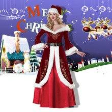 Cosplay Costume Uniform Christmas-Dress Adults Women Fancy Santa-Claus