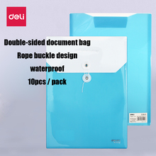 Information-Bag School-Supplies Deli Folder A4-Rope-Storage Office Plastic 10pcs/Pack
