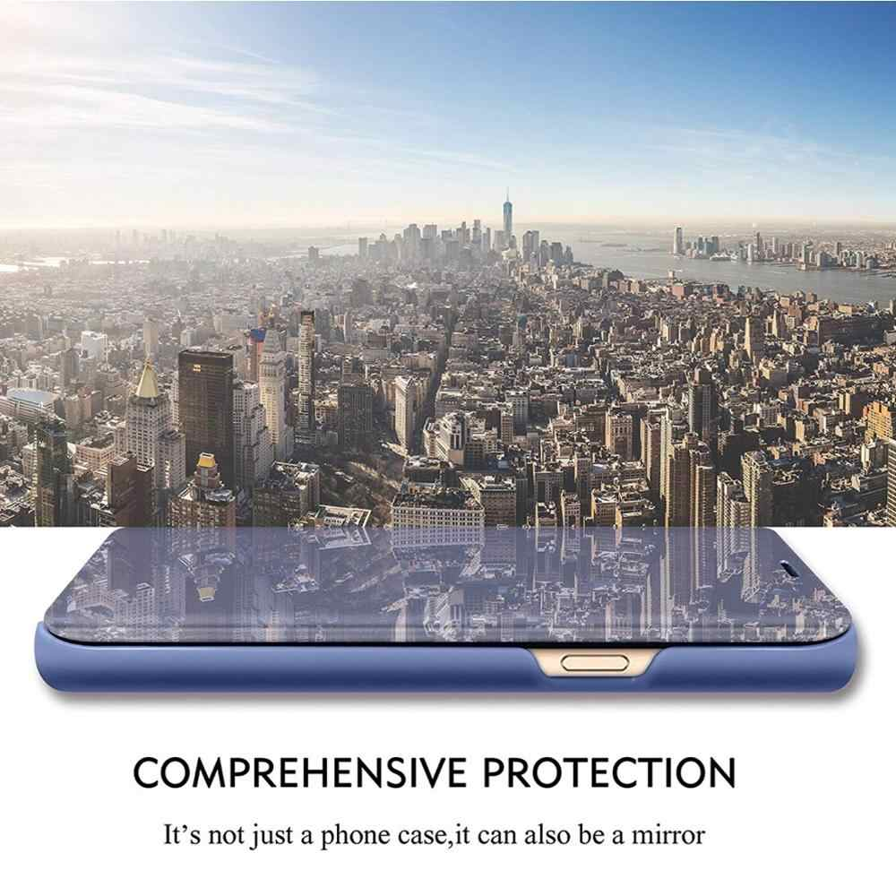 Ayna akıllı durumda OPPO RENO 2 A11 A11X kapak görünüm deri Kickstand Flip kapak için OPPO Realme 5 Pro a3 A5 A7 A9 2020 kılıf