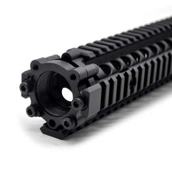 TriRock 12.7\'\' inch Tactical Upgrade MK18 Quad Rail Handguard Split 2 parts Picatinny Mount System Fit .223 Black Anodized