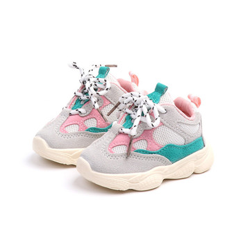 DIMI 2020 Autumn Baby Shoes Breathable Mesh First Walkers Boy Girl Toddler Shoes Soft Comfortable Non-slip Infant Sneaker