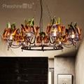 Лофт промышленная люстра  американская кофейня  бар  магазин одежды  освещение  цветная лампа для бадминтона