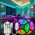 Светодиодные полосы светодиодные ленты Bluetooth светильники 5 м 10 м RGB 5050 SMD 2835 гибкий Водонепроницаемый лента диод 15 м/20 м 25 м возможностью погру...