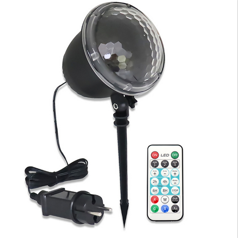 4 LED Projection Stage  Spotlight Outdoor Christmas IP65 Mini Snowflake Lamp With Remote Control Waterproof For Party Festivals