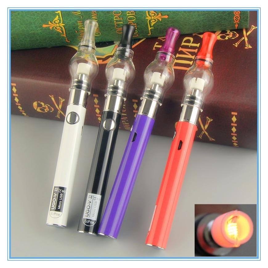 Dab Pen Kits Herbal Ugo V2 Glass Globe Wax Dab Vape Pen Kit Electronic Cigarette Ugo II 510 USB Battery Dry Herb Wax Atomizer