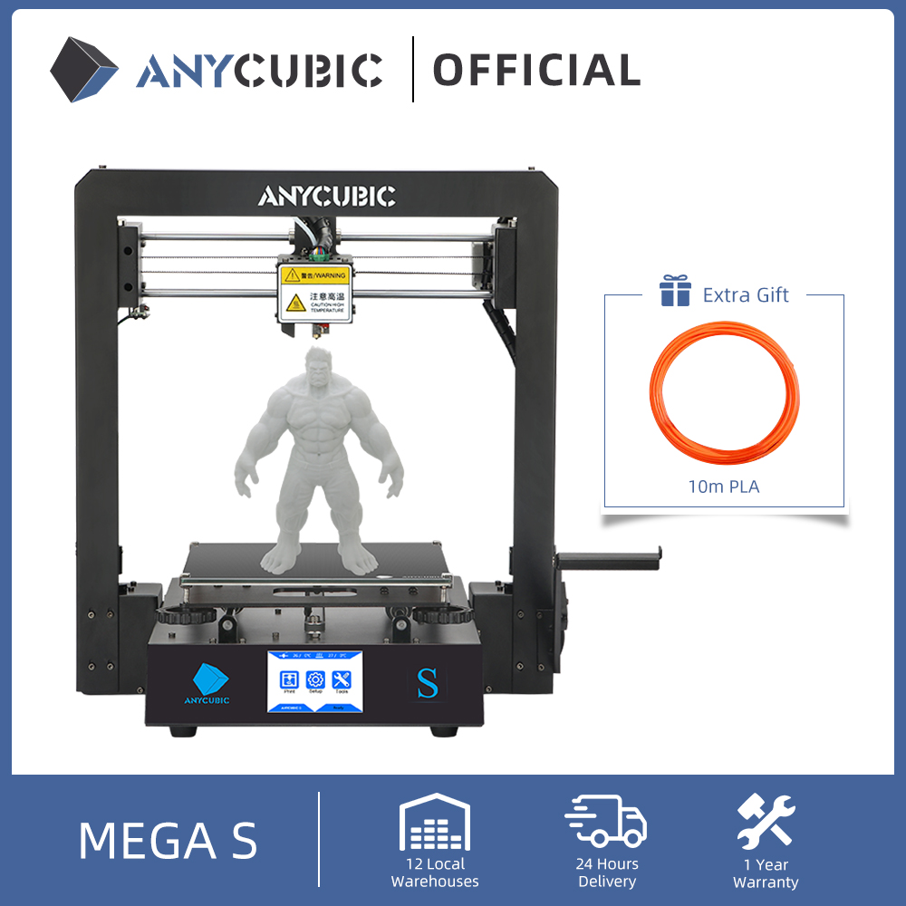 ANYCUBIC Mega S 3D Printer I3 Mega Series Upgrade Full Metal Frame Impresora 3D Printing High Precision DIY 3D Printers