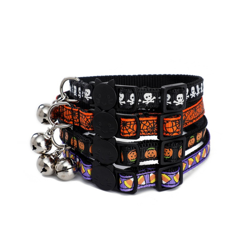 Dog Halloween Themed Nylon Adjustable Collar